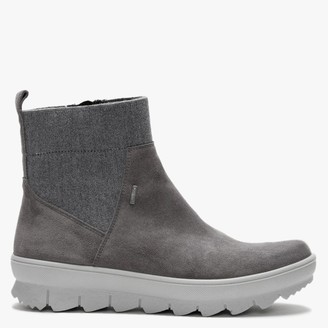 Legero Legerno Grey Suede Elasticated Top Ankle Boots