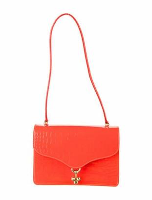 Edie Parker Leather Embossed Shoulder Bag w/ Tags Orange