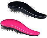 Detangling Brush Set (Pink & Black) - Effective Detangler Hair Brush for Women, Girls, Men and Boys-Use as Comb or Hair Brush-Use in Thin, Thick, Curly,Straight, Wet, Dry Hair