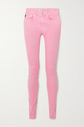 Balenciaga Acid-wash Mid-rise Skinny Jeans - Pink