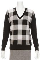 Autumn Cashmere Buffalo Check Boyfriend Sweater