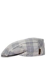 Borsalino Checked Light Cotton Coppola Hat