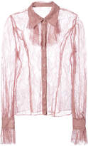 Anna Sui lace sheer shirt