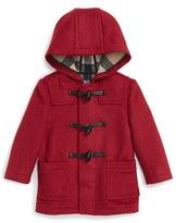 Burberry Infant Girl's 'Brogan' Hooded Wool Toggle Coat