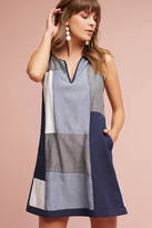 Hd In Paris Patched Indigo Tunic Dress