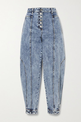 Ulla Johnson Brodie Acid-wash High-rise Tapered Jeans - Blue