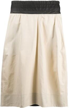 Plan C Contrast Panel Skirt