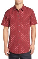 Imperial Motion Men's 'Brush' Slim Fit Print Short Sleeve Woven Shirt