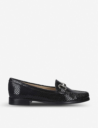 Carvela Comfort Click snake-embossed leather loafers