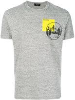 DSQUARED2 mountain print T-shirt - men - Cotton - XS