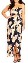 City Chic Plus Size Women's Tulip Time Floral Print Maxi Dress