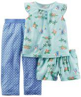 Carter's Girls 4-14 Tropical Print Pajama Set