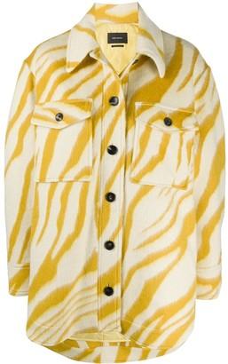 Isabel Marant Zebra-Print Textured Shirt Jacket