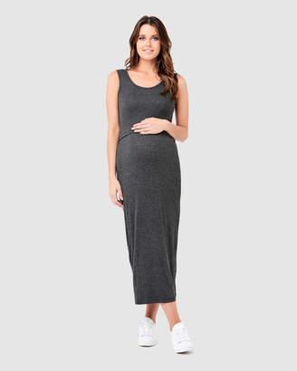 Ripe Maternity Rib Maxi Nursing Dress