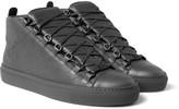Balenciaga - Arena Full-grain Leather High-top Sneakers