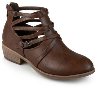 Brinley Co. Faux Leather Strappy Buckle Booties (Women's)