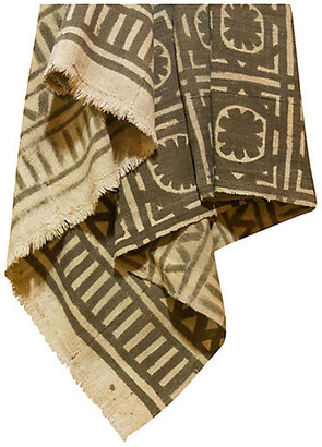 One Kings Lane Vintage Brown African Mud Cloth - de-cor