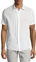 Theory Clark Instrumental Linen Short-Sleeve Shirt
