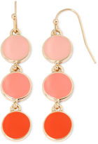 Liz Claiborne Orange Bead Gold-Tone Drop Earrings
