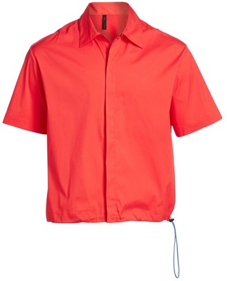 Unravel Project Motion Drawstring Button-Down Shirt