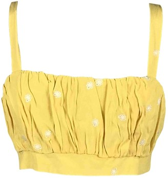 For Love & Lemons Yellow Viscose Tops