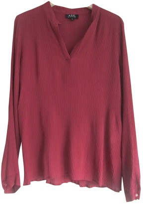 A.P.C. Burgundy Silk Tops