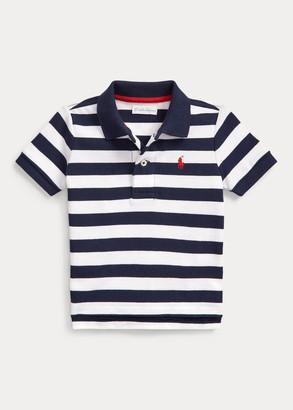 Ralph Lauren Striped Cotton Mesh Polo