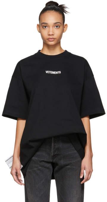 Vetements Black Logo T-Shirt