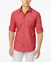 INC International Concepts Men's Textured Crosshatch Utility Shirt, Created for Macy's