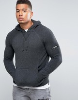 Firetrap Hooded Twisted Yarn Marl Sweater