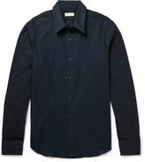 Dries Van Noten - Slim-fit Mesh And Cotton-poplin Shirt