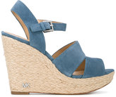 MICHAEL Michael Kors strappy wedge sandals - women - Leather/rubber - 9.5