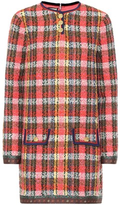 Gucci Checked wool-tweed minidress