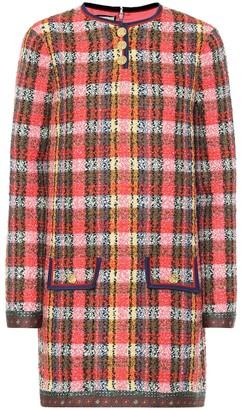 Gucci Checked wool-tweed minidress