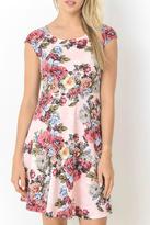 Gilli Pink Floral Dress