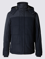 Blue Harbour Wool Blend Quilted Jacket With Stormweartm
