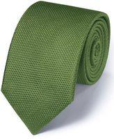 Charles Tyrwhitt Green Silk Classic Plain Tie Size OSFA