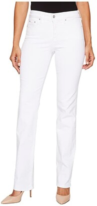 NYDJ Marilyn Straight in Optic White (Optic White) Women's Jeans