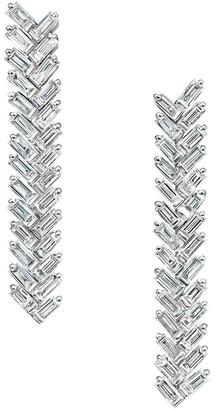 Anita Ko 18kt White Gold Diamond Zip Drop Earrings