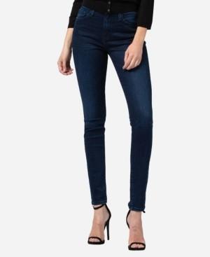 Flying Monkey High Rise 3D Whisker Skinny Jeans