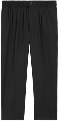 Ami Paris Elasticized-Waist Cropped Trousers
