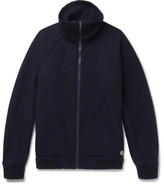 Nigel Cabourn + Peak Performance Mélange Knitted Zip-up Cardigan