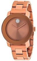 Movado Bold 3600086 Women's Rose Gold-Tone Watch with Crystal Accents