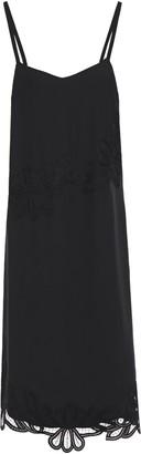 Victoria Beckham Lace-trimmed Silk Crepe De Chine Slip Dress