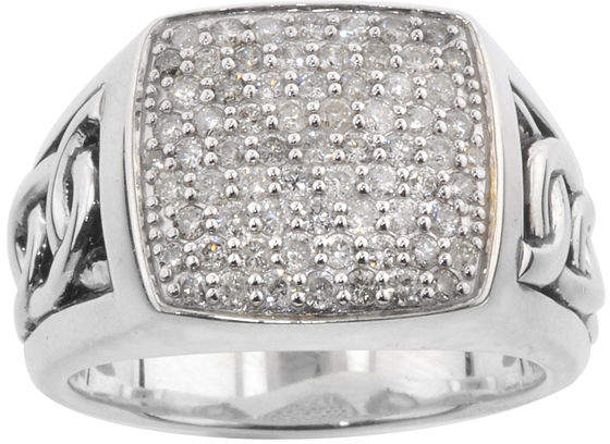 JCPenney FINE JEWELRY Mens 1 CT. T.W. Diamond Ring