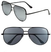 Quay Women's X Desi Perkins 'High Key' 62Mm Aviator Sunglasses - Black/ Silver Mirror
