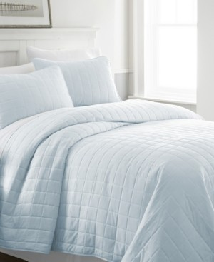 IENJOY HOME Home Collection Premium Ultra Soft Square Pattern Quilted Coverlet Set, King Bedding