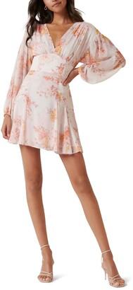 Ever New Floral Chiffon Minidress