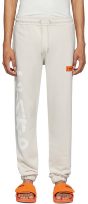 Heron Preston Beige Spray Style Lounge Pants