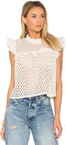 Anine Bing Eyelet Top in Beige. - size M (also in )